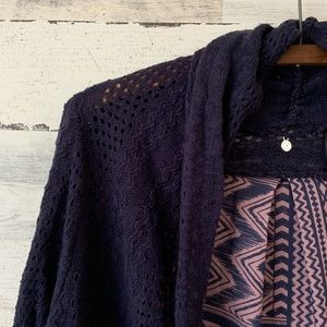 Anthropologie Sweaters - Knitted Knotted Anthro LS knit cardigan sweater L